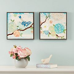 Intelligent Design Blooming Florals 2-piece Wall Art Set