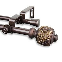 Rod Desyne Tilly Adjustable Double Curtain Rod
