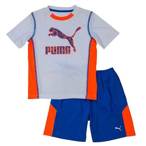 Boys 4-7 PUMA Colorblocked Tee & Shorts Set