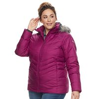 Plus Size Columbia Icy Heights Hooded Down Puffer Jacket