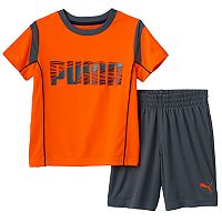 Toddler Boy PUMA Contrast Stitch Tee & Shorts Set