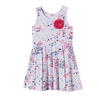 Girls 4-6x Design 365 Flower Print Pullover Dress
