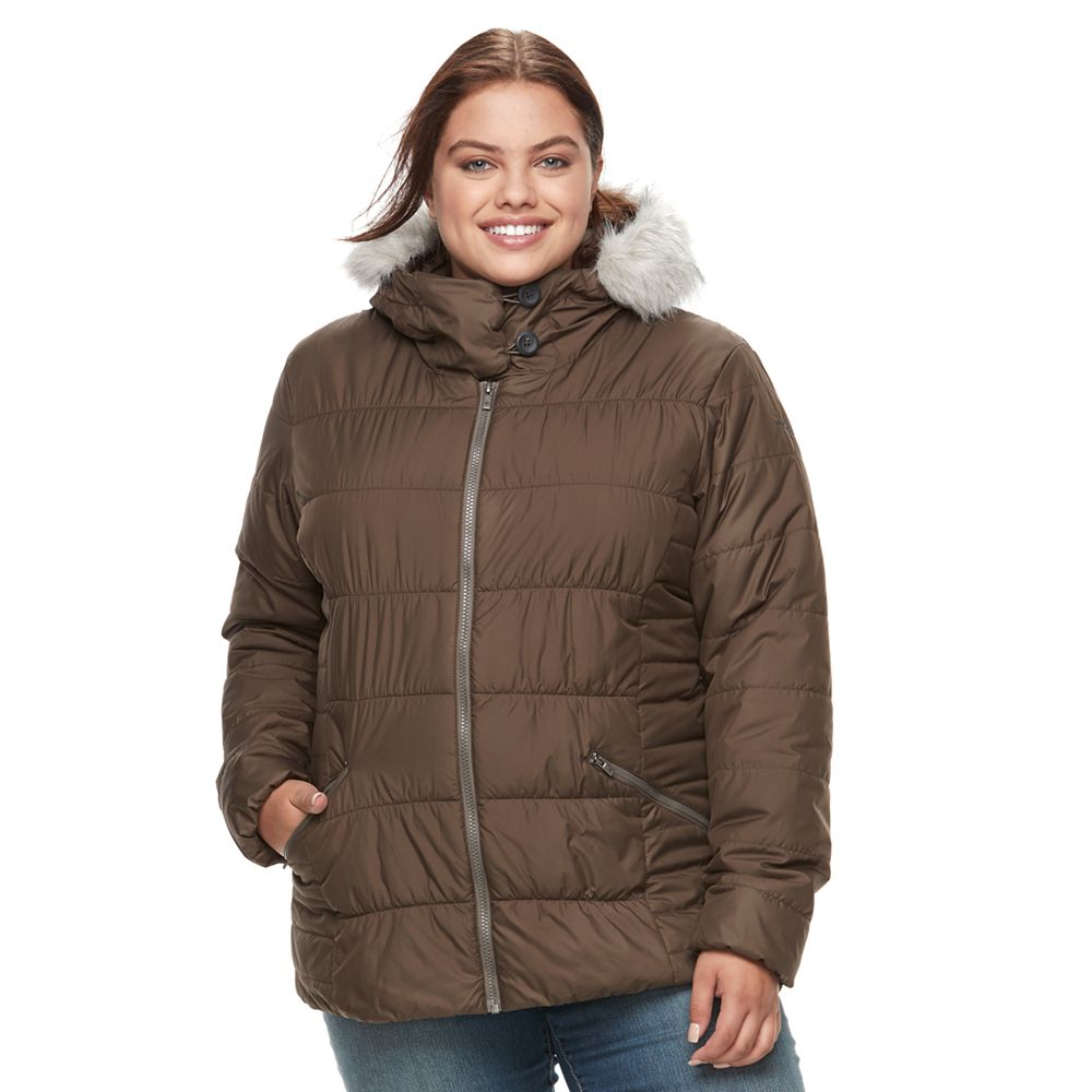 Size Spark Lake Sparks Lake Thermal Coil Hooded Faux-Fur Trim Jacket