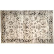 nuLOOM Vintage Viscose Shelley Framed Floral Rug