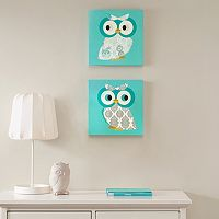 Mi Zone Hoot Hoot 2-piece Wall Art Set