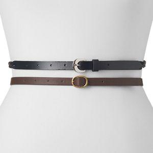 Women's SONOMA Goods for Life® 2-pc. Skinny Belt Set - Black, Brown