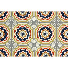 nuLOOM Air Libre Sevilla Tiles Indoor Outdoor Rug
