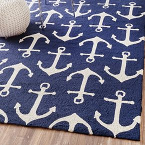 nuLOOM Air Libre Anchors Indoor Outdoor Rug