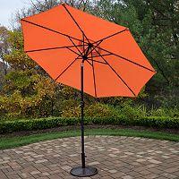 9 ft. Outdoor Umbrella & Umbrella Stand