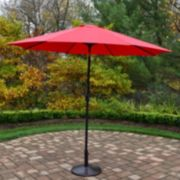 9 ft. Outdoor Umbrella & Umbrella Stand