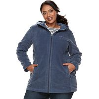 Plus Size Columbia Three Lakes Hooded Long Fleece Jacket