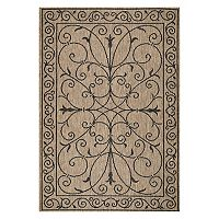 nuLOOM Alexa Framed Scroll Indoor Outdoor Rug