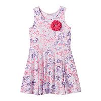 Toddler Girl Design 365 Flower Print Pullover Dress