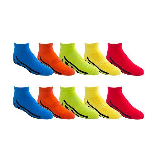 Boys Tek Gear® 10-Pack Lightweight Low-Cut Performance Socks