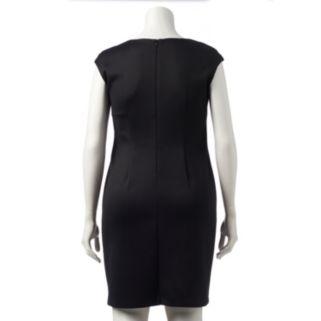 Plus Size Connected Apparel Sequin Sheath Dress