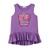 Toddler Girl Design 365 High-Low Ruffle Sequin Tank