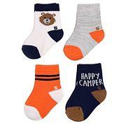 Baby Boy / Toddler Boy Jumping Beans® 4 pkCrew Socks