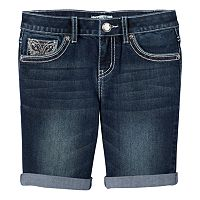 Girls 7-16 & Plus Size Mudd® Butterfly Cuffed Denim Shorts