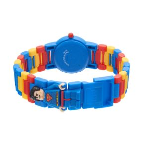 LEGO Kids' DC Comics Superman Minifigure Interchangeable Watch Set