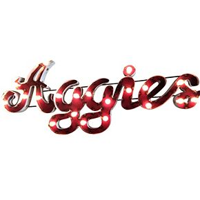 Texas A&M Aggies Recycled Metal Lighted Wall Décor