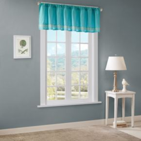Madison Park Leah Embroidered Window Valance - 50'' x 18''