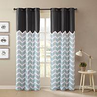 Intelligent Design 2-pack Elle Chevron Curtains