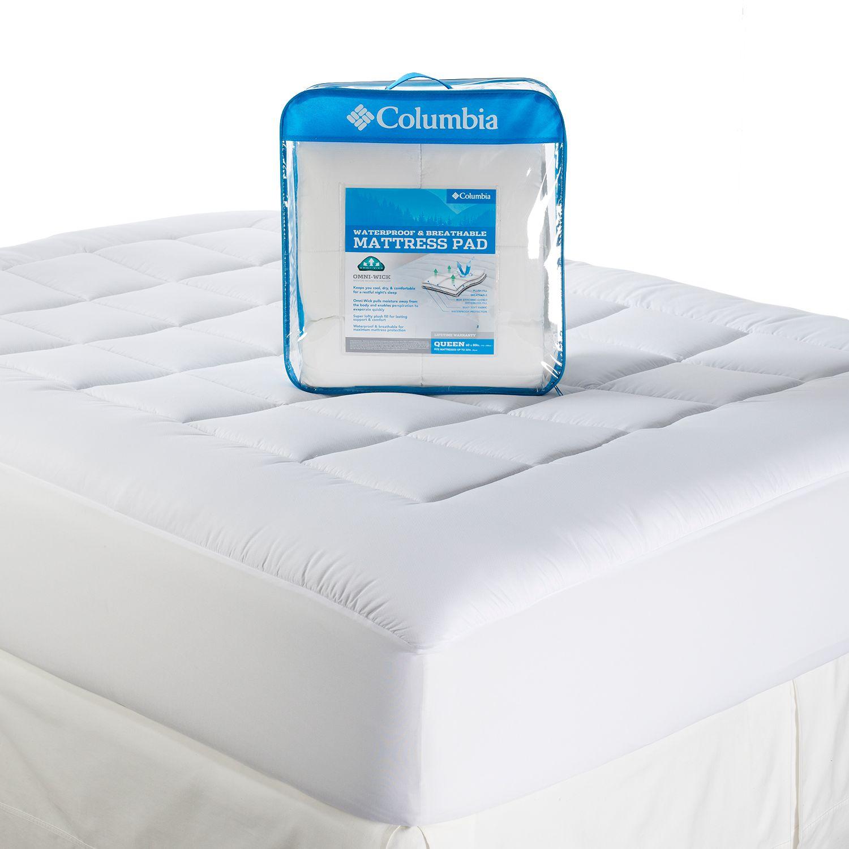 columbia performance omniwick waterproof mattress pad