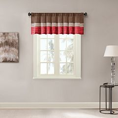 Madison Park Tradewinds Polyoni Pintuck Window Valance - 50'' x 18''