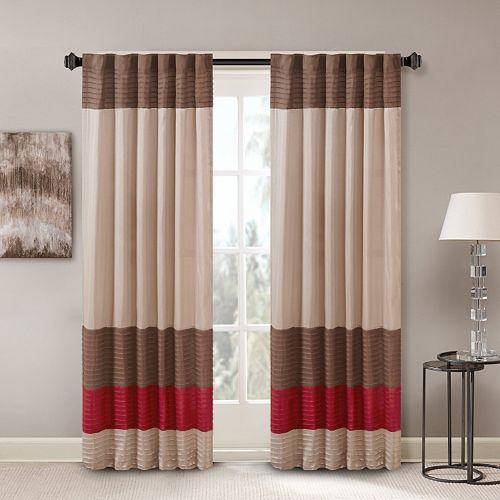 Madison Park Tradewinds Polyoni Pintuck Window Curtain - 50'' x 84''