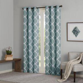 Madison Park 2-pack Essentials Almaden Printed Fret Window Curtains