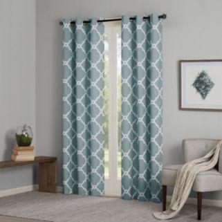 Madison Park Essentials 2-pack Almaden Printed Fret Window Curtains