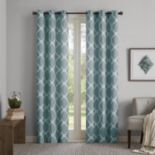 Madison Park Essentials 2-pack Almaden Printed Fret Window Curtains