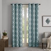 Madison Park 2-pack Essentials Almaden Printed Fret Window Curtains
