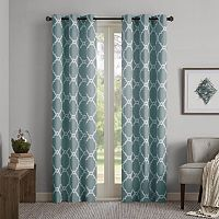 Madison Park Essentials Almaden Printed Fret Window Curtain Set