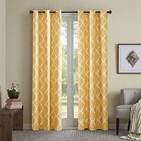 Madison Park Essentials 2-pack Almaden Printed Fret Curtains