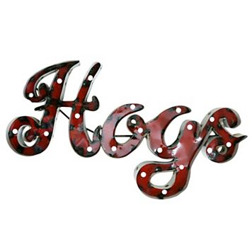 Arkansas Razorbacks Recycled Metal Lighted Wall Décor