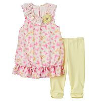 Toddler Girl Marmellata Classics Butterfly Blouson Top & Leggings Set