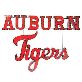 Auburn Tigers Recycled Metal Wall Décor