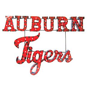 Auburn Tigers Recycled Metal Lighted Wall Décor