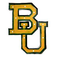 Baylor Bears Recycled Metal Lighted Wall Décor