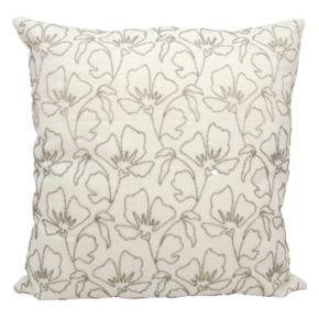 Mina Victory Wildflowers Beaded Throw Pillow