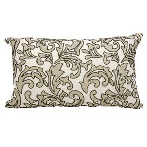 Mina Victory Leaves Beaded Throw Pillow