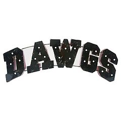 Georgia Bulldogs Recycled Metal Lighted Wall Décor