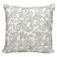 Mina Victory Metallic Leaves Throw Pillow