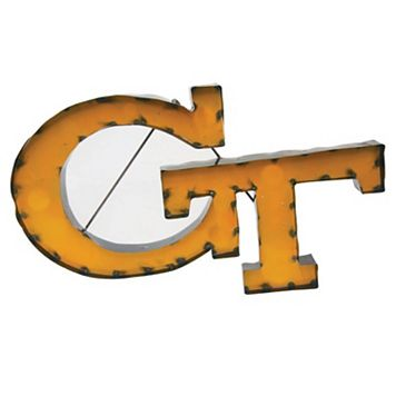 Georgia Tech Yellow Jackets Recycled Metal Wall Décor