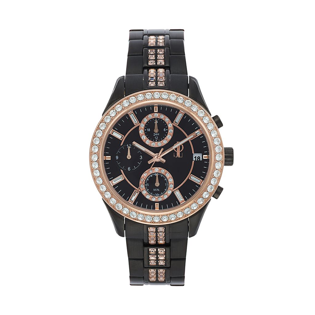 Jennifer Lopez Women's Marilyn Crystal Two Tone Stainless Steel Chronograph Watch