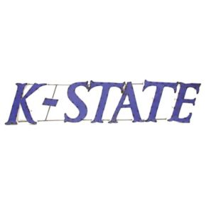 Kansas State Wildcats Recycled Metal Wall Décor