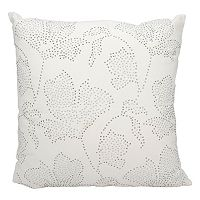 Mina Victory Rhinestone Flowers Throw Pillow