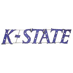 Kansas State Wildcats Recycled Metal Lighted Wall Décor