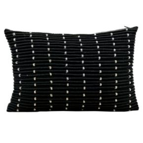 Mina Victory Ribbed Beaded Throw Pillow
